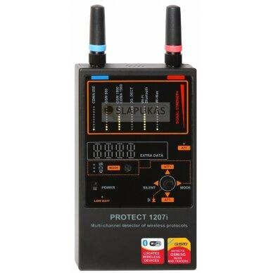 Daugiakanalis belaidžių ryšių detektorius profesionalams 2