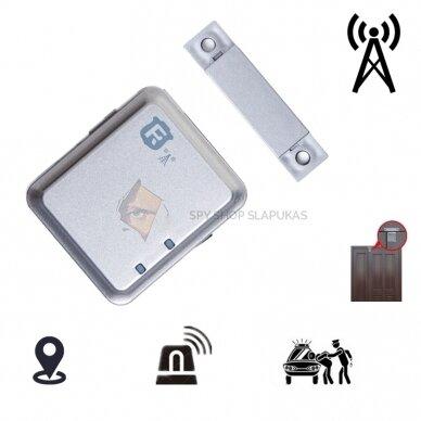 GSM pasiklausymo įrenginys su magnetu (Durų signalizacija)