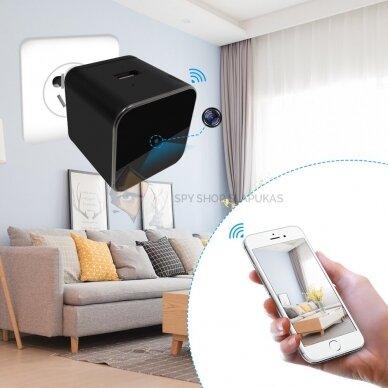 Kroviklis su WIFI slapta kamera 7