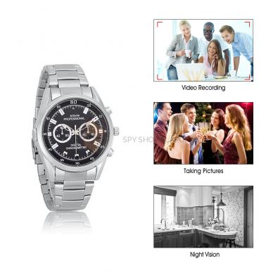 Laikrodis kamera FULL HD 32 GB su naktinio filmavimo funkcija 5