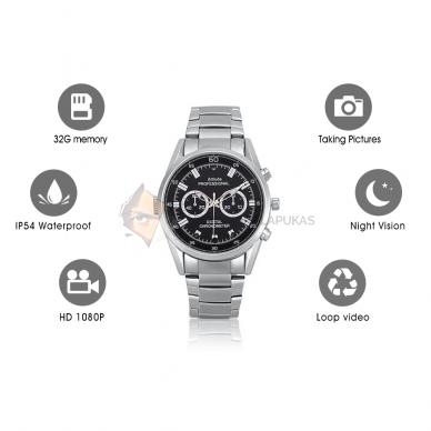 Laikrodis kamera FULL HD 32 GB su naktinio filmavimo funkcija 2