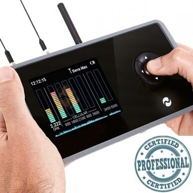 Plačiajuostis belaidis radijo signalų detektorius
