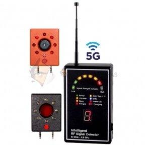 Radijo dažnių siųstuvų detektorius 5G profesionalams