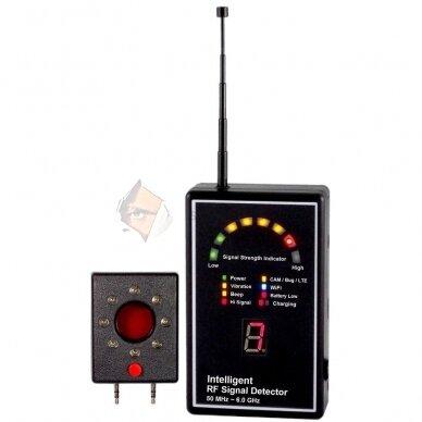 Radijo dažnių siųstuvų detektorius profesionalams