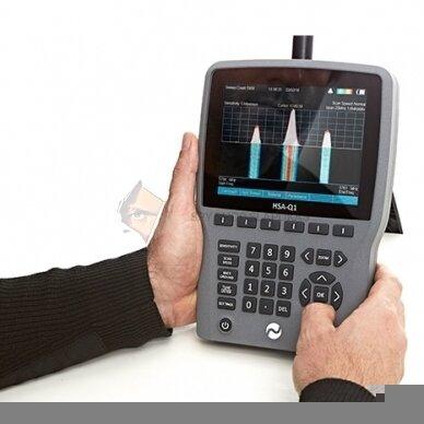 Rankinis spektro analizatorius mobiliųjų telefonų, pasiklausymo įrangos ir vaizdo kamerų aptikimui