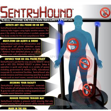 SentryHound-Pro feromagnetinis kontrabandos skenavimo įrenginys PROFESIONALAMS 6