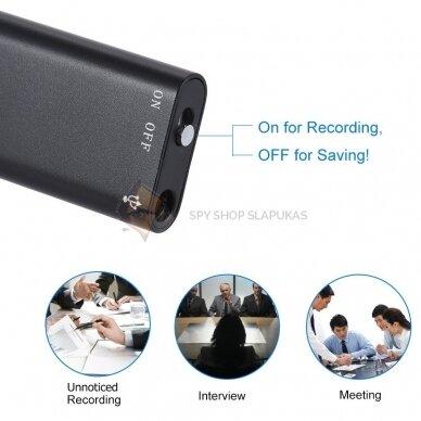 Skaitmeninis diktofonas XS 8GB 4