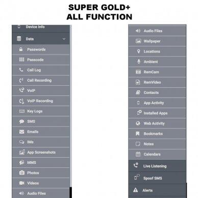 "Slapto mobiliųjų telefonų stebėjimo įranga ""SUPER GOLD+"" 4"